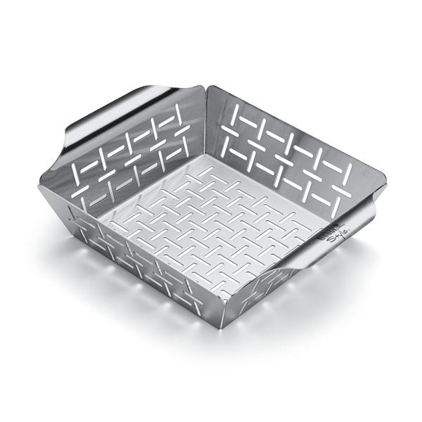 Weber Deluxe Stainless Steel Small Grilling Basket Image 1
