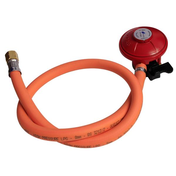 BBQ Hose Kit 1/4 Left Hand with Patio Gas Regulator Image 1