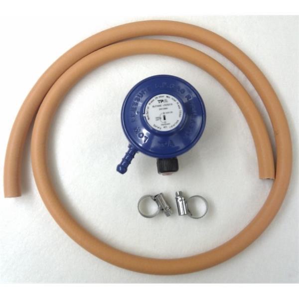 Butane Regulator (21mm Clip On) & Hose Kit Image 1