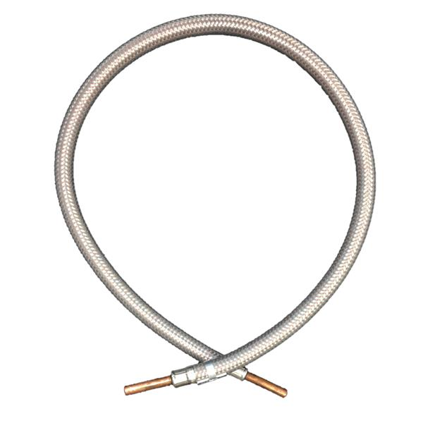 1000mm Armoured (Stainless Steel Finish) Hose 1/4 Copper Standpipes BS 3212:1991 Image 1