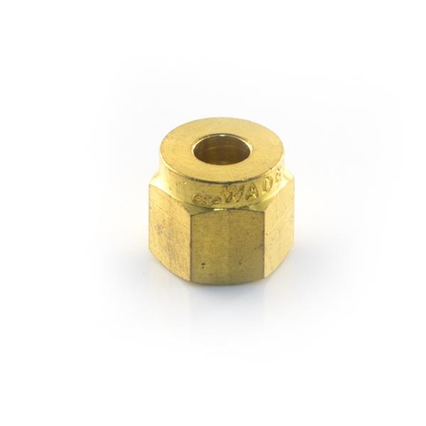 Wade 1008 3/8  Brass Compression Nut Image 1