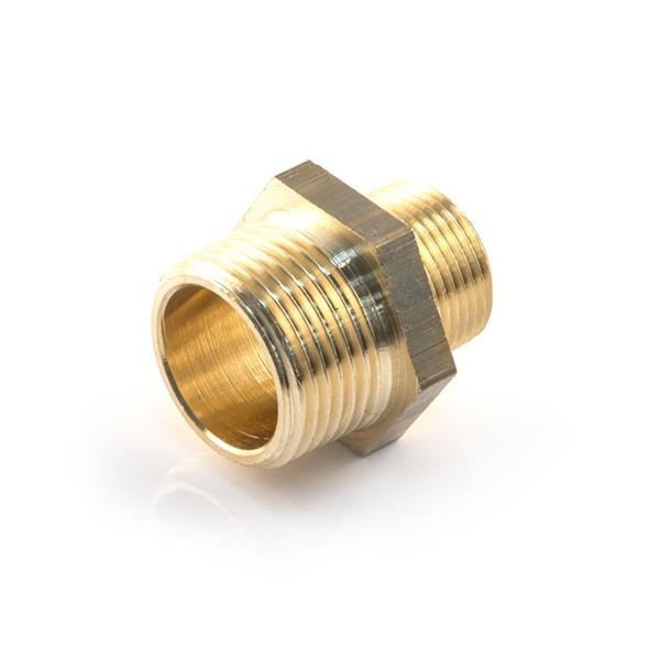 1/4 x 3/8 BSP Brass Nipple Image 1