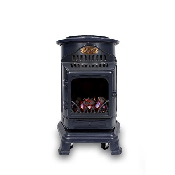 Provence Portable Real Flame Effect 3.4kW Blue Gas Heater Image 1