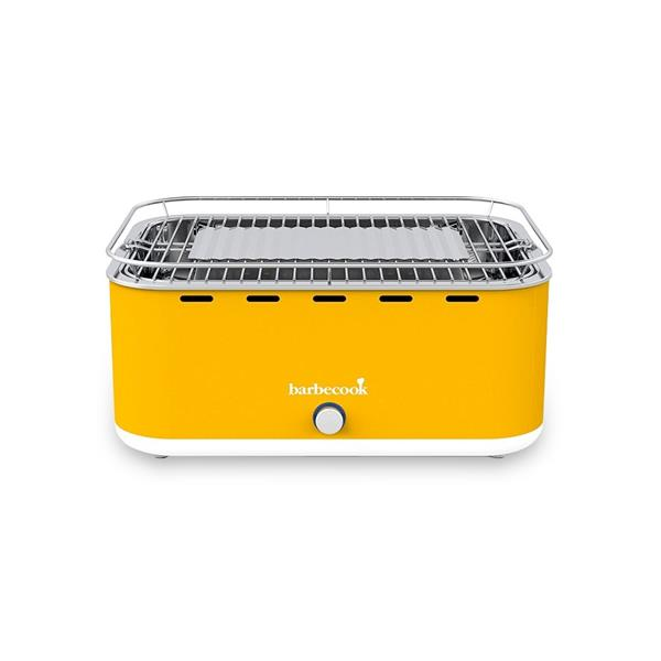 Barbecook Carlo Yellow Portable Charcoal Barbecue Image 1