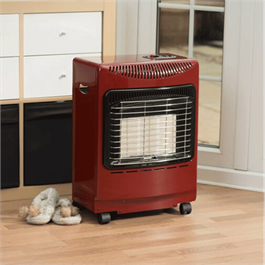 Lifestyle Red Mini Heatforce 4.2kw Radiant Portable Gas Heater Thumbnail Image 1