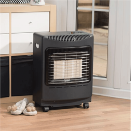 Lifestyle Black Mini Heatforce 4.2kw Radiant Portable Gas Heater Thumbnail Image 1
