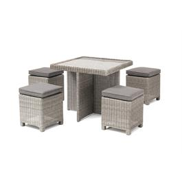 Kettler Palma Cube Set - White Wash with Glass Top Table thumbnail