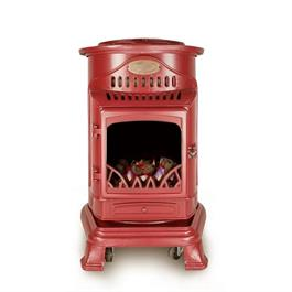 Provence Portable Real Flame Effect Red Gas Heater & Calor 15kg Butane Cylinder Thumbnail Image 1