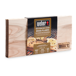 Weber Western Red Small Cedar Wood Planks - Set of 2  Thumbnail Image 1