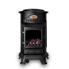 Provence Real Flame Effect 3.4kW Matt Black Gas Heater thumbnail