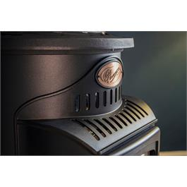 Provence Real Flame Effect 3.4kW Matt Black Gas Heater Thumbnail Image 5