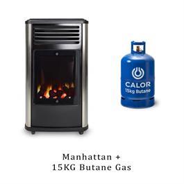 Manhattan 3.4kW Living Flame Heater & 15kg Butane Cylinder thumbnail
