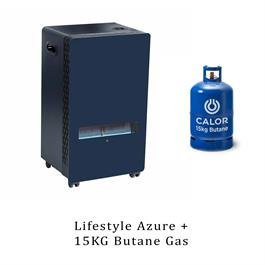 Lifestyle Azure Blue Flame 3.8kw Portable Gas Heater & 15kg Butane thumbnail