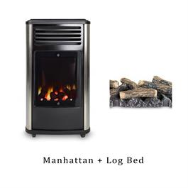 Manhattan Real Flame Heater & Log Bed thumbnail