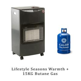 Lifestyle Seasons Warmth Grey 4.2kw Radiant Portable Gas Heater & 15kg Butane thumbnail