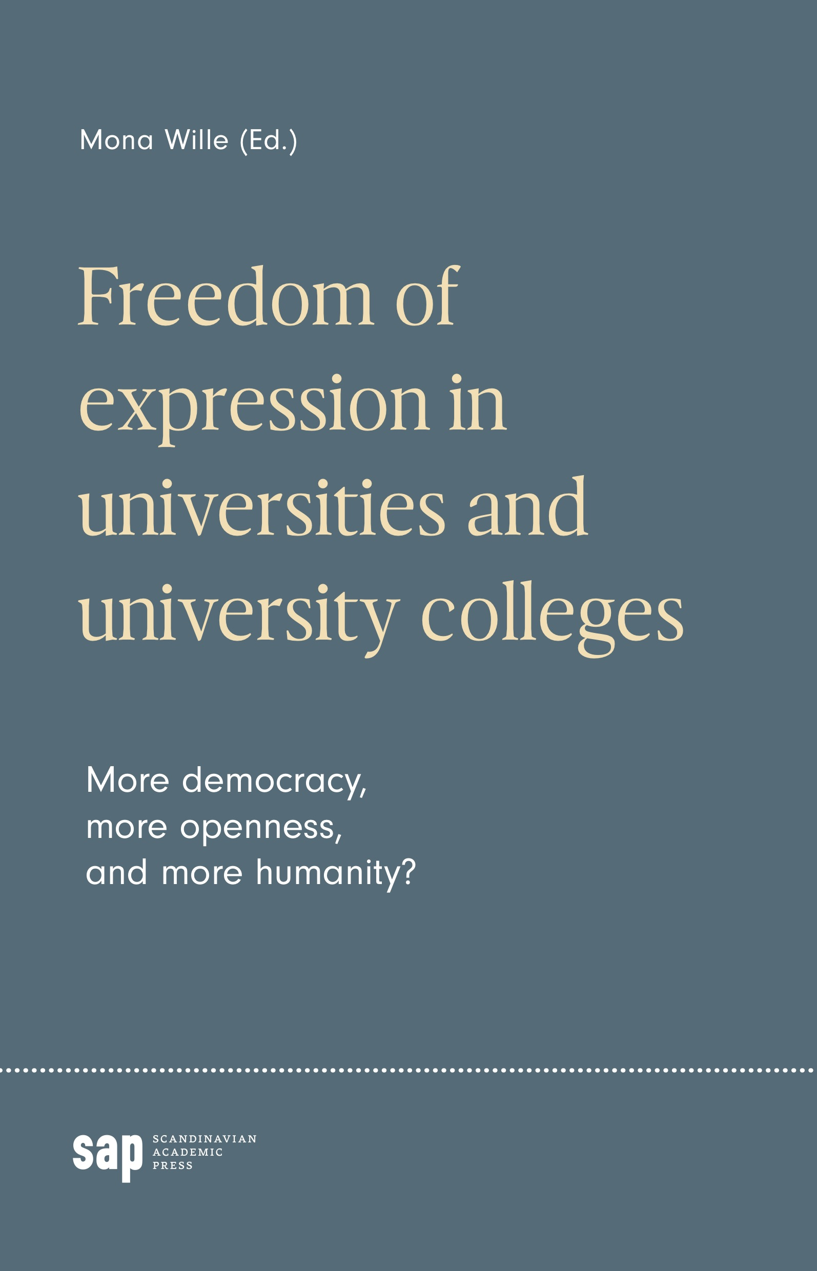 Freedom of expression in universities and university colleges