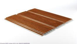 300mm X5m Hollow Soffit Boards Light Oak image