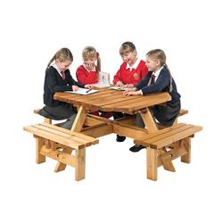 Octagonal Junior Picnic Bench By Anchor Fast Products Ltd - Picnic table anchors