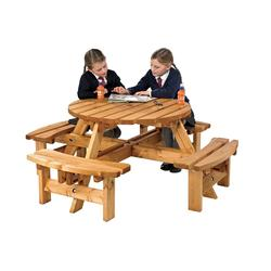 Sherwood Round Picnic Bench By Anchor Fast Products Ltd - Picnic table anchors