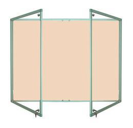 Tamperproof Lockable Noticeboard Aluminium Frame Camira Lucia image
