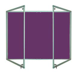 Tamperproof Lockable Noticeboard Aluminium Frame Charles Twite Felt image