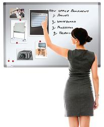 Drywipe Magnetic Whiteboard with Pen Tray and Aluminium Trim image