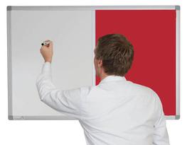 Combination Whiteboard with Cara Fabric image
