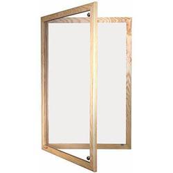 Magnetic Tamperproof Lockable Whiteboard with Wooden Frame image