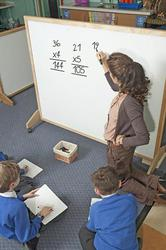 Deluxe School Screens with one side felt/one side magnetic whiteboard image