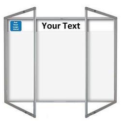 Magnetic Tamperproof Lockable Whiteboard with Header Panel image