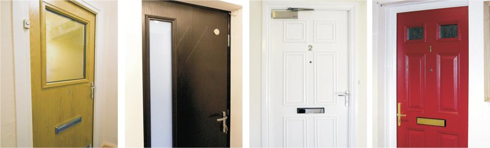 Apartment entrance doorsets by Performance Doorset Solutions Ltd