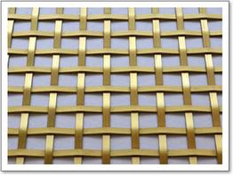 Square Woven Brass Grille – 5mm Plain image