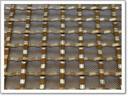 Square Woven Brass Grille – 5mm Reeded image