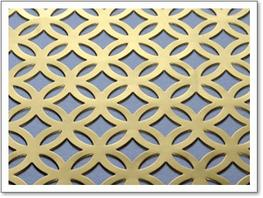 Perforated Brass Grille – Filigree image