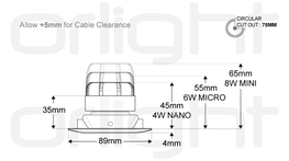 ORL1009-S-IP44 - IP44 Slim Fixed Magnetic Downlight image