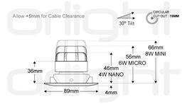ORL1019-S - Slim Tilt Magnetic Downlight image