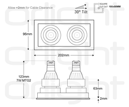 ORLIG2M - Thin Trim Twin Magnetic Downlight image