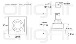 ORLIG1M - Thin Trim Square Magnetic Fixture image