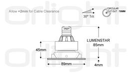 ORL1019-SQ - Square Tilt Magnetic Downlight image