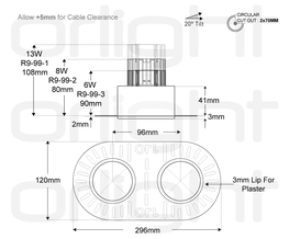 ORL1018-2 - Twin Trimless Magnetic Downlight image
