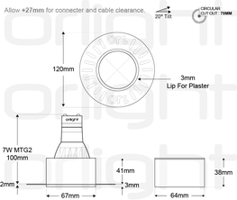 ORL1018-1 - Trimless Magnetic Downlight image