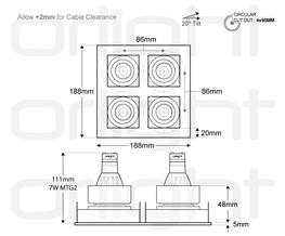 ORLIB4M-SQ - Quad Designer Magnetic Downlight image