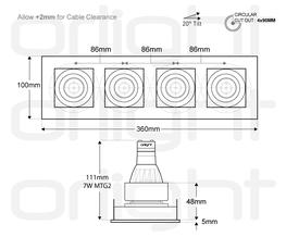 ORLIB4M - Quad Designer Magnetic Downlight image