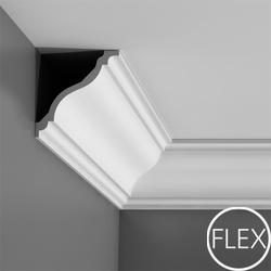 """This is a nicely proportioned cornice moulding with a classic swan-neck curve and part of the """"Majestics"""" family (C334, C335, C337 and P8060).  The S curve with its broken angle is also named the Flemish scroll and was popular in the 17th century during the Fl..."""