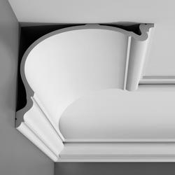 A family of four deeply curved cornices inspired by the rich English heritage of country houses. The deep, asymmetric curve gives the cornice an even more pronounced sense of depth for an extradimensional effect. Inspired by authentic design and made with the ...