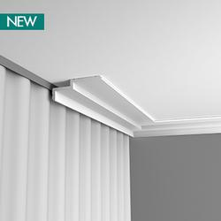 A sleek profile within the Steps range. C391 is perfect as an original, modern cornice or as a practical solution for hiding a curtain rail or LED lighting. The chamfered corners at the top and bottom also create a subtle line of shadow that further accentuate...