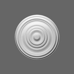 48.5 x 48.5 x 3.7 - Ø 48.5 cm Medium concentric circles make this ceiling center. Matches all decoration styles. Can be used to hide cables....