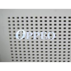 Square holes perforated gypsum board image