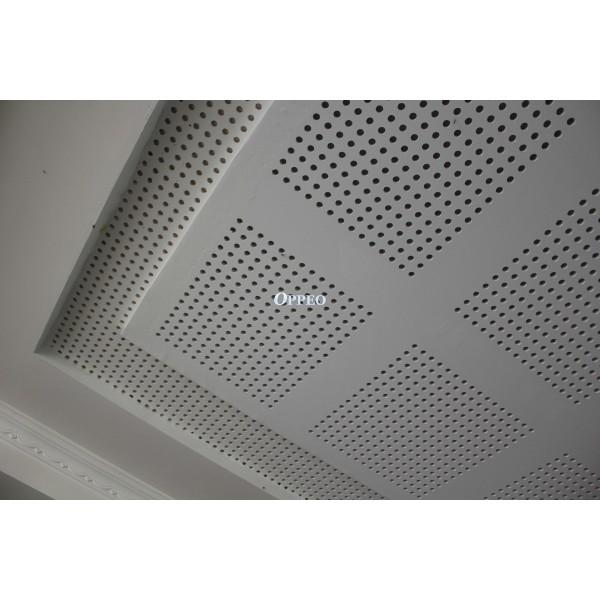 Seamless Perforated Gypsum Ceiling By Oppeo Perforated