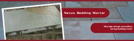 Nexus Bedding mortar is a very high strength ready-to-use mortar for bedding concrete and stone paving slabs and setts.    The system is suitable for both pedestrian or vehicular trafficked areas and complies with Highways Specification for Highway Works Claus...